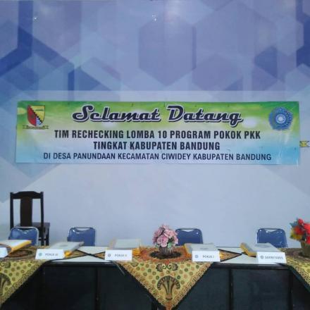Rechecking Lomba 10 Program Pokok PPK Tingkat Kabupaten.